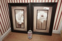 PAIR OF NICELY FRAMED AND MATTED FLORAL ART PRINTS - FOY - 6