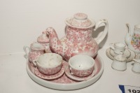 VINTAGE PORCELAIN TEA SET MINIATURES - LIV - 2