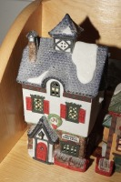 DEPARTMENT 56 SNOW VILLAGE FIGURES ON TOP SHELF MARKED 1026 - LIV - 3