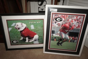 PAIR OF FRAMED AND MATTED BILL GRAHAM UNIVERSITY OF GEORGIA FOOTBALL PHOTOS, POLLACK AND UGA VI - LIV