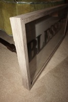 LARGE DECORATIVE SHADOW BOX WITH RUSTIC FRAME, BLESSED AND GRATEFUL - LIV - 4