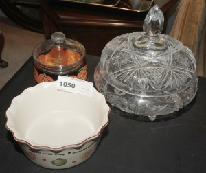 CANDY DISHES AND POTTERY BOWL - LIV
