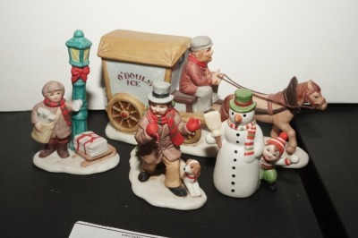 LEFTON COLONIAL VILLAGE FIGURINES - LIV