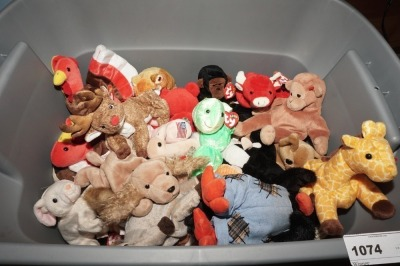 TUB FILLED WITH BEANIE BABIES - LIV