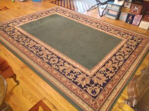ROOM RUG, 8X10, GOOD CONDITION, NEEDS CLEANING, DOES HAVE SKIDPAD UNDERNEATH