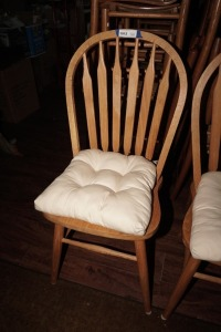 SOLID WOOD SIDE CHAIR WITH REMOVABLE SEAT CUSHION