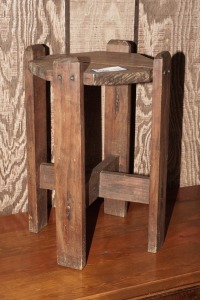 PRIMITIVE SOLID WOOD PLANT STAND