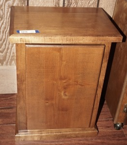 SOLID WOOD END TABLE CABINET / STAND