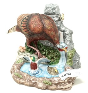 COLLECTIBLE WILD TURKEY LIMITED EDITION PORCELAIN DECANTER