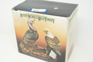 COLLECTIBLE WILD TURKEY PORCELAIN DECANTER WITH ORIGINAL BOX