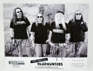 THE KENTUCKY HEADHUNTERS HAND AUTOGRAPHED 8X10 PROMO SHOT - DONATED BY THE KENTUCKY HEADHUNTERS