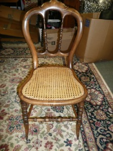 VINTAGE CANE BOTTOM CHAIR