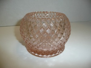 VINTAGE MISS AMERICA PINK DEPRESSION GLASS BOWL