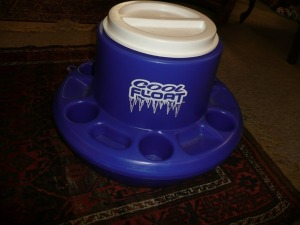 FLOATING COOLER WITH CUP HOLDERS