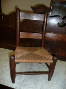 CHILDREN'S CHAIR WITH RUSH BOTTOM