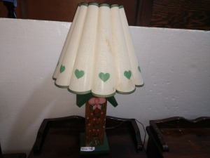 26-IN WOODEN LAMP WITH BIRDHOUSE THEME