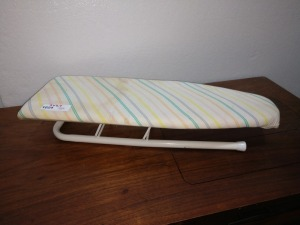 SMALL TABLETOP IRONING BOARD, 9-IN X 24-IN, LEGS FOLD DOWN
