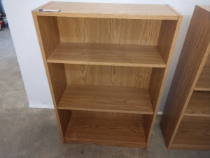 SHELF UNIT WITH TWO SHELVES, 9 IN BY 24-IN BY 35-IN HIGH
