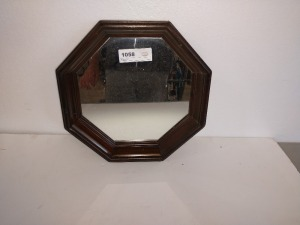 OCTAGON WALL MIRROR, 13-IN