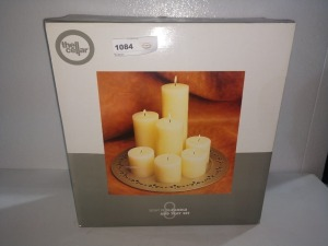 CANDLE AND TRAY SET, STILL IN ORIGINAL BOX