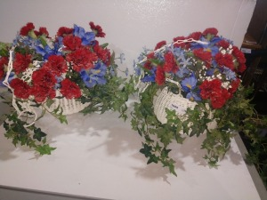 ARTIFICIAL PLANTS WITH WOVEN BASKETS