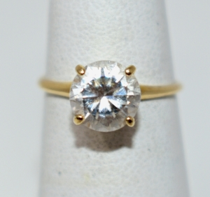 14K YELLOW GOLD CZ RING SIZE 6