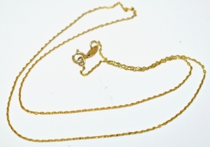 14K YELLOW GOLD CUT MARINER CHAIN 1.09 GRAMS