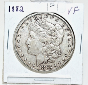 1882 VERY FINE MORGAN DOLLAR