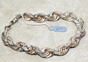 "STERLING SILVER HEAVY 8"" BRACELET 43.19 GRAMS"