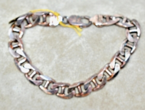 "STERLING SILVER HEAVY 8"" BRACELET 41.31 GRAMS"