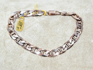 "STERLING SILVER HEAVY 8"" BRACELET 20.61 GRAMS"