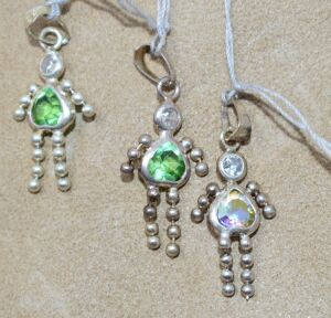 3 STERLING SILVER BIRTHDAY NECKLACE PENDANTS