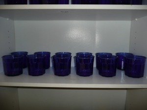 LOT OF 12 COBALT BLUE GLASSES