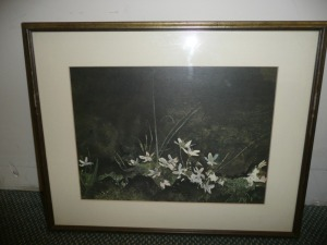 FRIEND VINTAGE PRINT OF FLOWERS