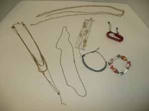LOT OF COSTUME JEWELRY NECKLACES AND BRACELETS