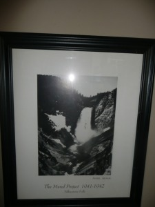 NICELY FRAMED ANSEL ADAMS THE MURAL PROJECT PHOTO PRINT YELLOWSTONE FALLS