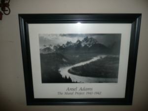 NICELY FRAMED ANSEL ADAMS PHOTOGRAPH