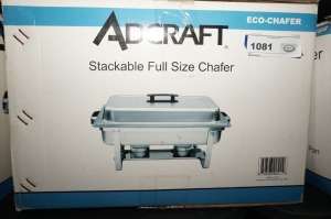ADCRAFT STACKABLE FULL SIZE CHAFER WITH ORIGINAL BOX