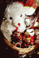 LARGE HOLIDAY GIFT BASKET WITH A LITTLE BIT OF EVERYTHING - 9