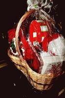 LARGE HOLIDAY GIFT BASKET WITH A LITTLE BIT OF EVERYTHING - 10