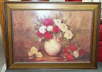 FRAMED ART STILL LIFE FLORAL 43X31