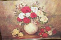 FRAMED ART STILL LIFE FLORAL 43X31 - 2