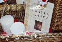 LARGE PEACE AND PRAYERS GIFT BASKET WITH WICKER CANDLE HOLDER, BOOK, CANDLES ART, THERMA PLUSH BLANKET AND MORE - 2
