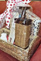 LARGE PEACE AND PRAYERS GIFT BASKET WITH WICKER CANDLE HOLDER, BOOK, CANDLES ART, THERMA PLUSH BLANKET AND MORE - 3