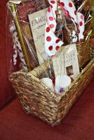 LARGE PEACE AND PRAYERS GIFT BASKET WITH WICKER CANDLE HOLDER, BOOK, CANDLES ART, THERMA PLUSH BLANKET AND MORE - 4
