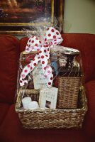 LARGE PEACE AND PRAYERS GIFT BASKET WITH WICKER CANDLE HOLDER, BOOK, CANDLES ART, THERMA PLUSH BLANKET AND MORE - 10