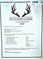 BUCKHORN FARMS GEORGIA MOUNTAIN EQUESTRIAN GET-AWAY FOR 2 NIGHTS CABIN STAY $500 VALUE - DONATED BY DAVID PRIM - 2