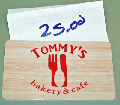 TOMMY'S BAKERY & CAFÉ 5580 THOMASTON RD MACON - $25 GIFT CERTIFICATE