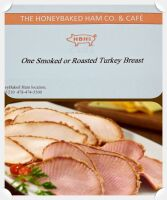 HONEY BAKED HAM GIFT CERTIFICATE GOOD FOR 1 SMOKED OR ROASTED TURKEY BREAST - FORSYTH ROAD IN MACON, GA.