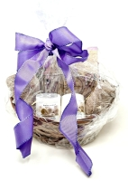 SPA GIFT BASKET WITH LUMINESSENCE CANDLES PHOTO ALBUM, CRYSTAL AND MORE